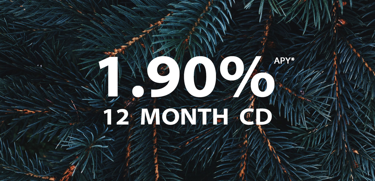 12 month cd at 1.9 percent