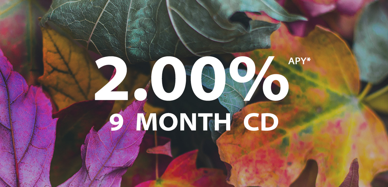 9 month cd at 2 percent