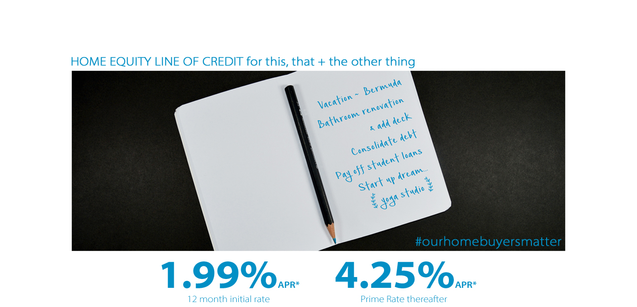 1.99% Home Equity Line of credit #ourhomebuyersmatter